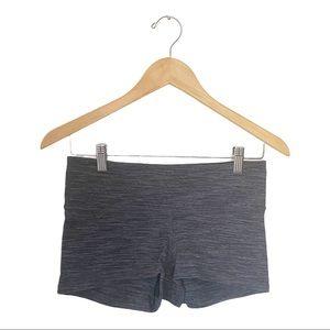 lululemon Heathered Grey Black Boogie Shorts 6